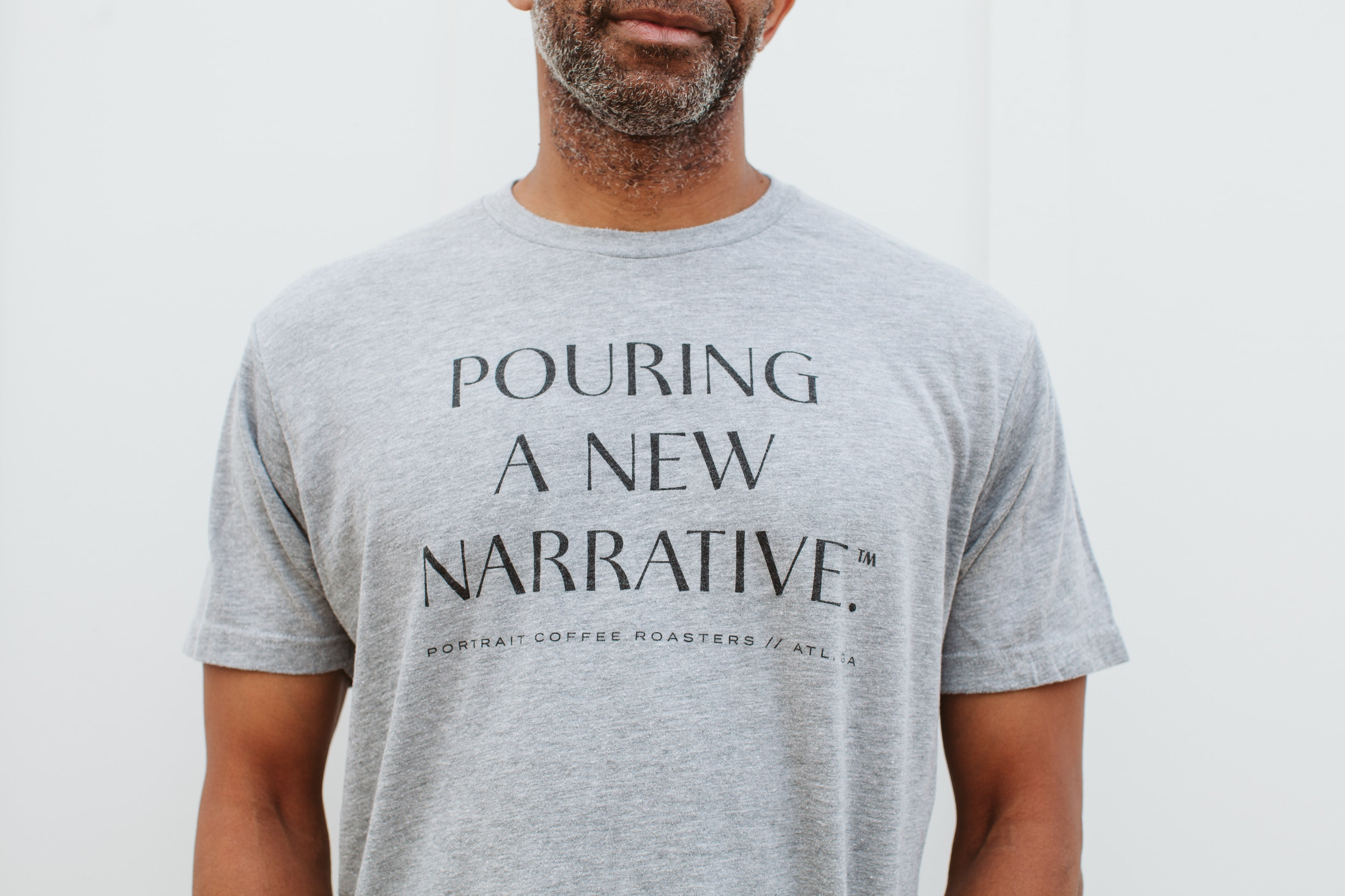 'Pouring a New Narrative' Short Sleeve T-Shirt - Gray