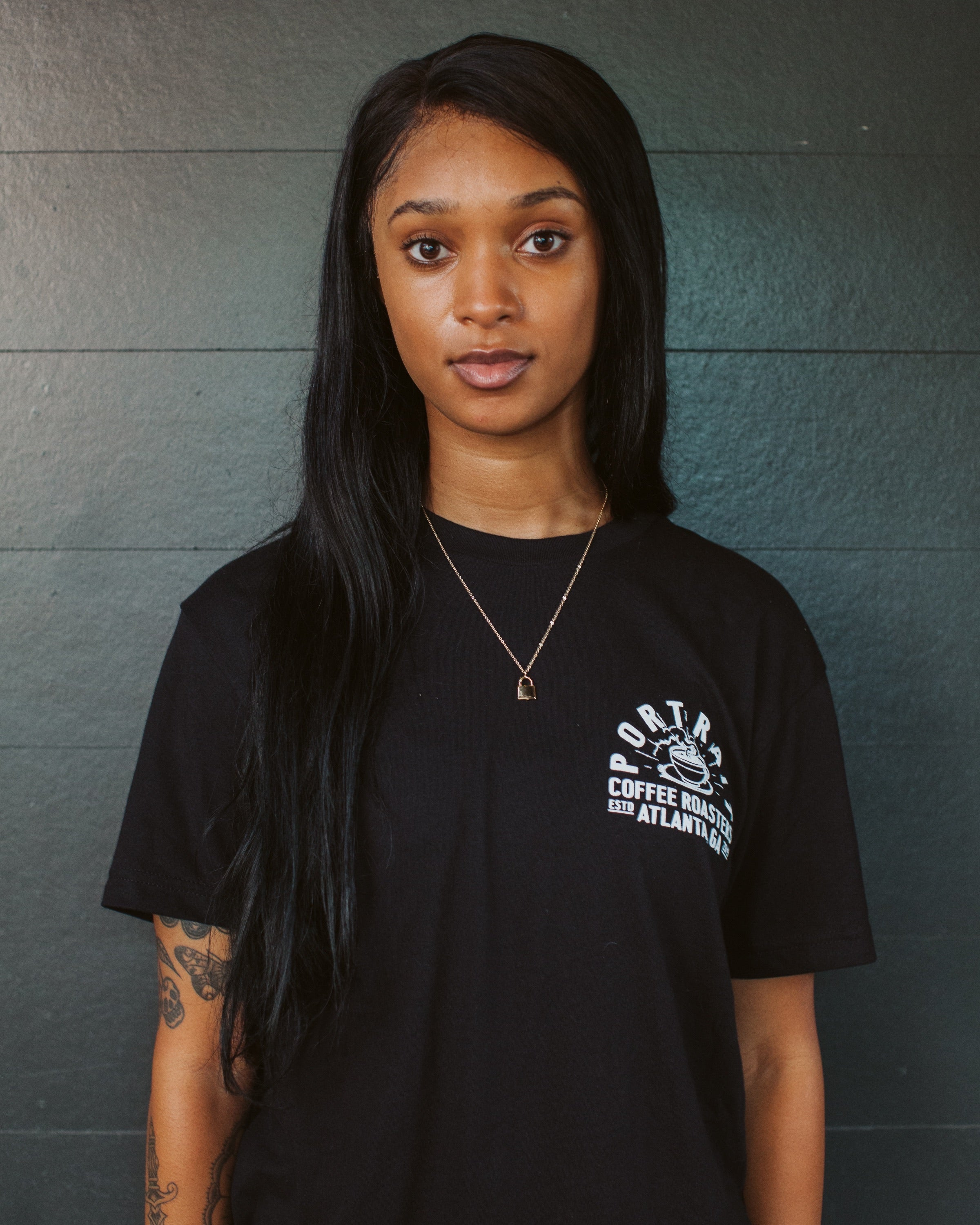 "Portrait ""Drink Black"" Tee"