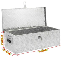 "39""× 13""×10"" (990 ×330 ×254mm) Aluminum Pickup Truck Heavy Duty Tool Box Trunk Bed Storage"