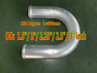 "1.5""/2""/2.25""/2.5""/3"" inch 180 Degree Aluminum Hose Turbo Intercooler Pipe Piping Tube Tubing L=600mm OD 38/51/57/63/76 mm"