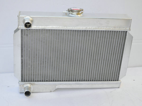 Aluminum Radiator + FAN For 1962-1974 ROVER MG B MGB GT NIB MT 1.8L 1798cc FIT 63 64 65 66 67 68 69 70 71 72 73