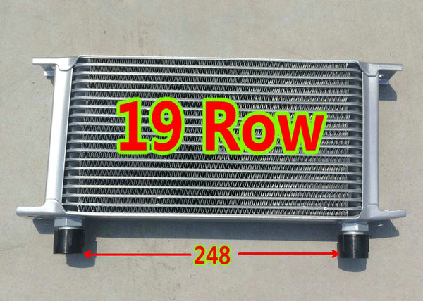 Performance Silver Universal OilCooler FOR 19 Row AN-10AN Engine Transmission Racing Oil Cooler Mocal style