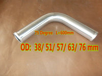 "75 Degree 38mm/51mm/57mm/63mm/76mm L=600mm Elbow Aluminum Hose Turbo Intercooler Pipe Piping OD 1.5""/2""/2.25""/2.5""/3"" inch"
