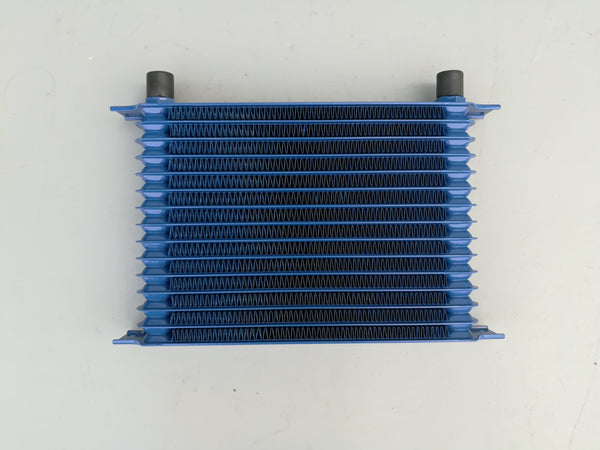 262mm Blue Aluminum Universal 15 Row Engine Transmission AN10 10-AN Mocal Style Oil Cooler
