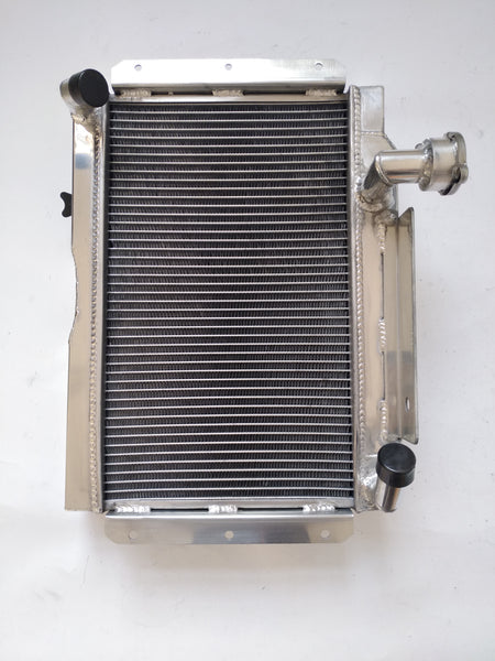 5ROW Aluminum Radiator & fan for ROVER MG A MGA 1500 1600 Twin Cam Mark II DeLuxe 1622 cc MT 1955-1962 1.5/1.6L I4 58 59 60 61