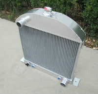 62mm Aluminum Radiator For Ford Model A Chopped w/Chevy Engine 1928-1931 1929 1930 AT/MT G.M. motor swap 3.3L 200Cu L-HEAD