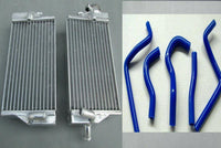 ALUMINUM RADIATOR and blue hose for HONDA CR 125 R CR125R CR125 2-STROKE 2004 04 - CHR Racing