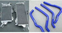 NEW ALUMINUM RADIATOR AND BLK HOSE FOR KAWASAKI KX125 1990 1991 1992 - CHR Racing