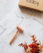 Load image into Gallery viewer, Reusable Safety Razor - Matte Rose Gold