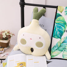 Load image into Gallery viewer, Cartoon Fruit and Vegetable Plush Toy Sofa Pillow Home Decor Kids Sleeping Toys Holiday Gifts Cucumber Red Pepper Garlic Carrot