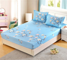 Load image into Gallery viewer, LAGMTA 1pc 100% Polyester Priting Mattress Cover Sheet Four Corners With Elastic Fitted Sheet Pillowcase