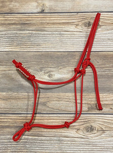 4 Knot Rope Halter w/ Braided Noseband