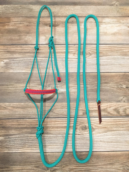 Rope Halter & 12' Lead Rope Set