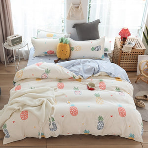 Fashion Simple Style home bedding sets bed linen duvet cover flat sheet Bedding Set Winter Full King Single Queen,bed set 2019