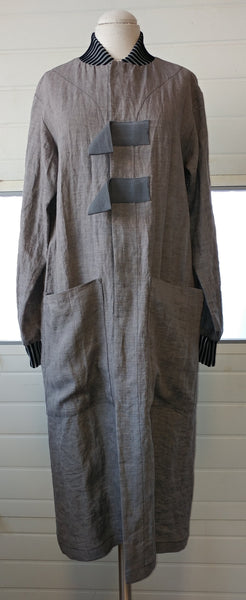 Vanguard Coat - Sage grey Linen