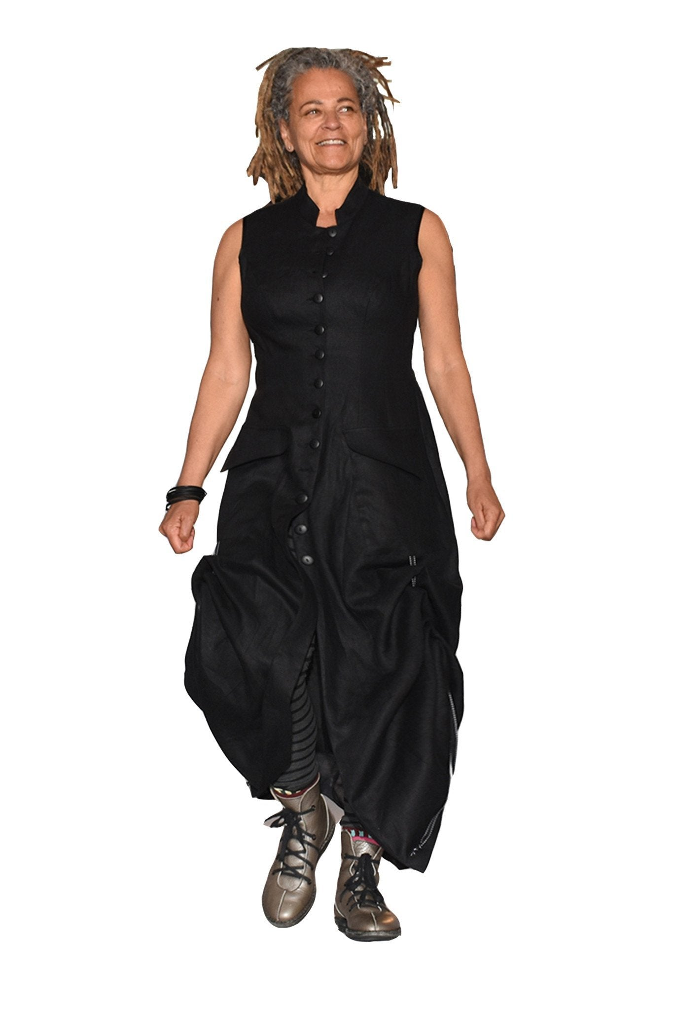 Black Widow Dress I Linen