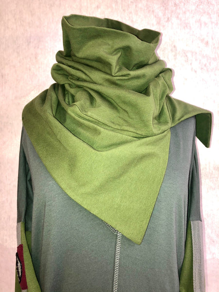 Toaster Neck Warmer - pull-on organic cotton scarf