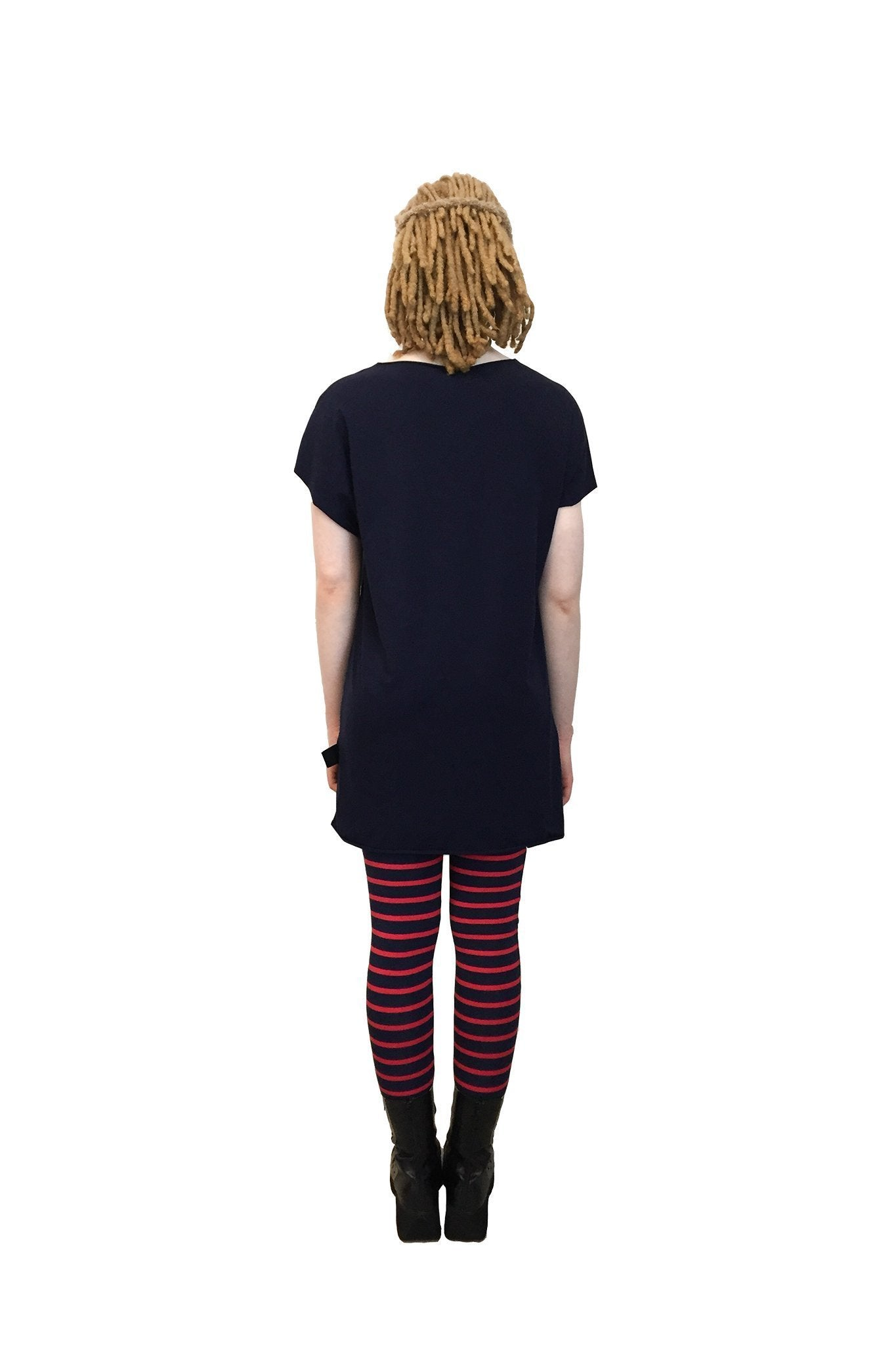 Hipster Leggings I Navy / Red