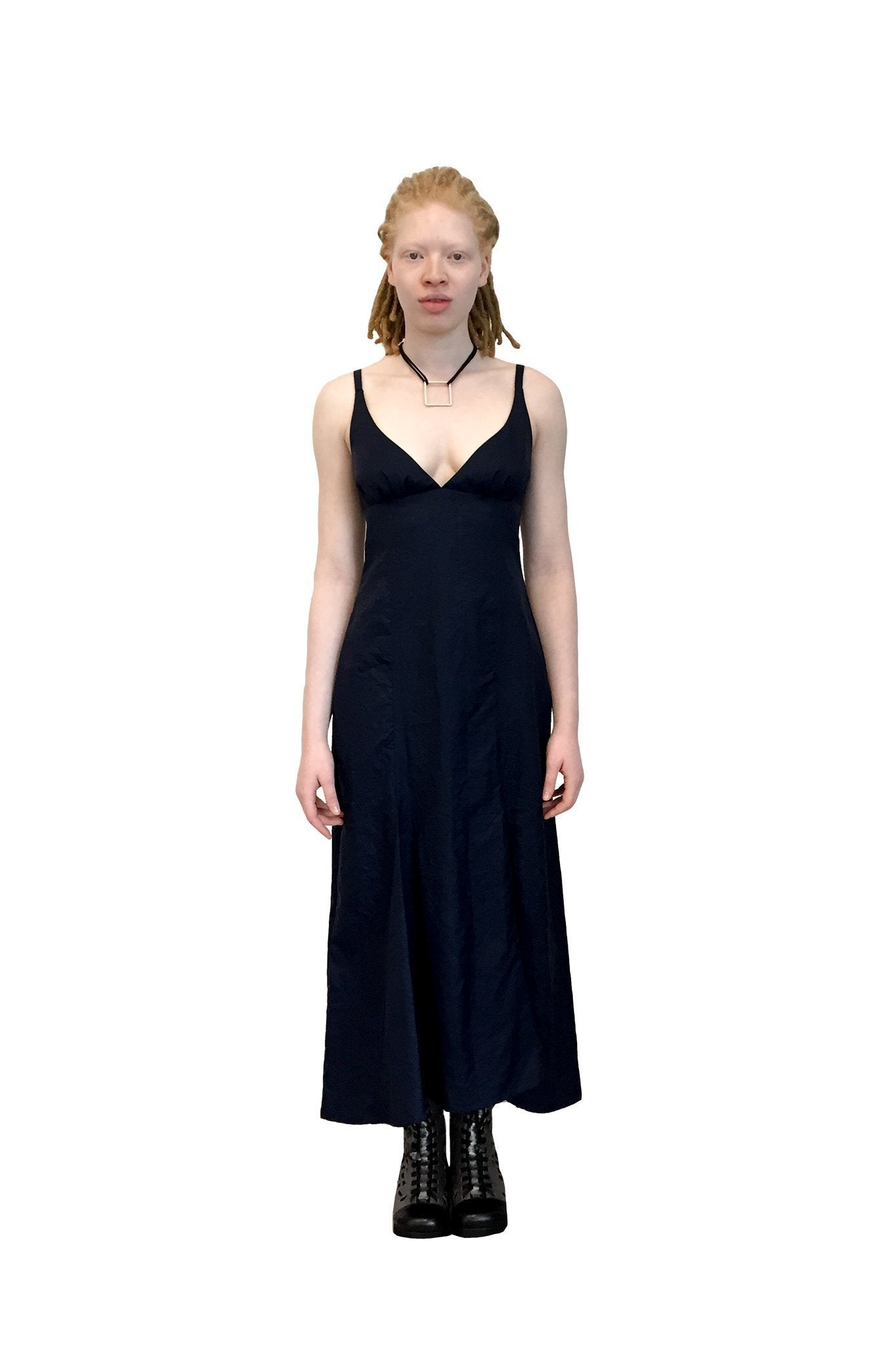 Sweet Pea Dress I Black Cotton