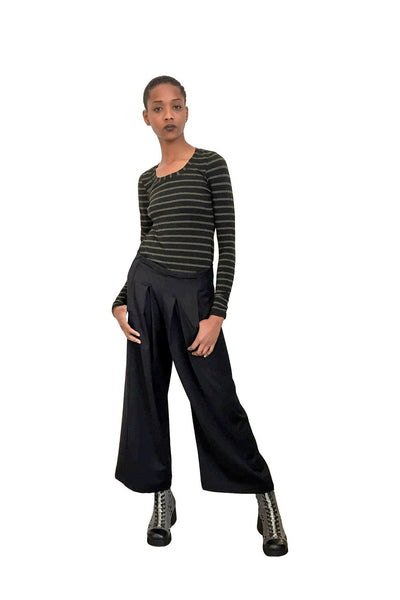Swag Low-Waisted Pant I Black Suiting