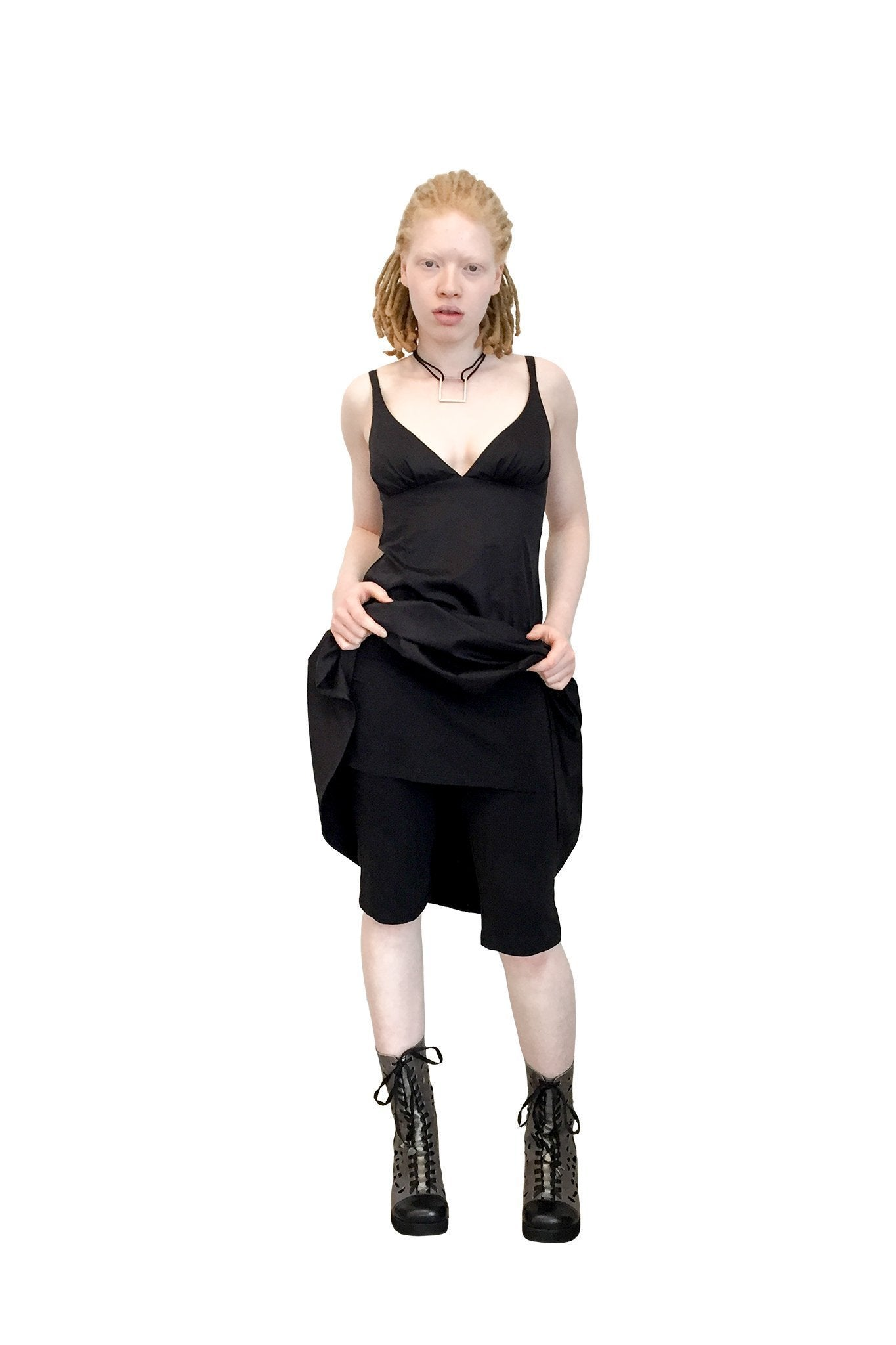 Double Trouble I ORGANIC Cotton Lycra Short with Skirt