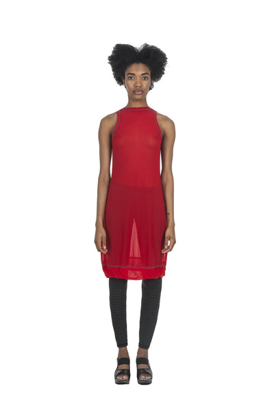 Simplicated Top/Dress  I  Sheer  I  Hot Lips Red