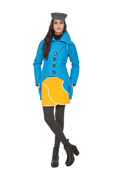 Booty Warmer | Peacock Blue + Caution Yellow