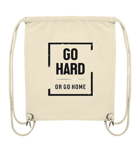 GO HARD - Organic Gym-Bag