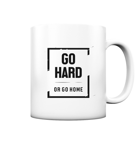 GO HARD - Tasse matt