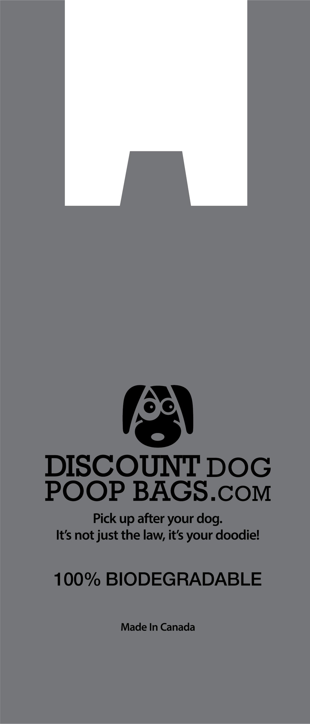 Biodegradable Poop Bags - Grey