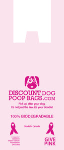 Biodegradable Poop Bags - Pink