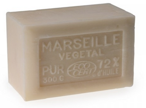 French Household Soap Unfragranced- 300g Rampal Latour Savon ECO-Cert 72% Vegetable Oil Extra Pure