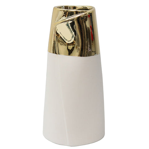 Ceramic Dipped Silver Vase