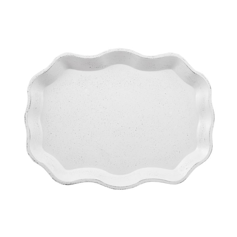 White Oval Tray