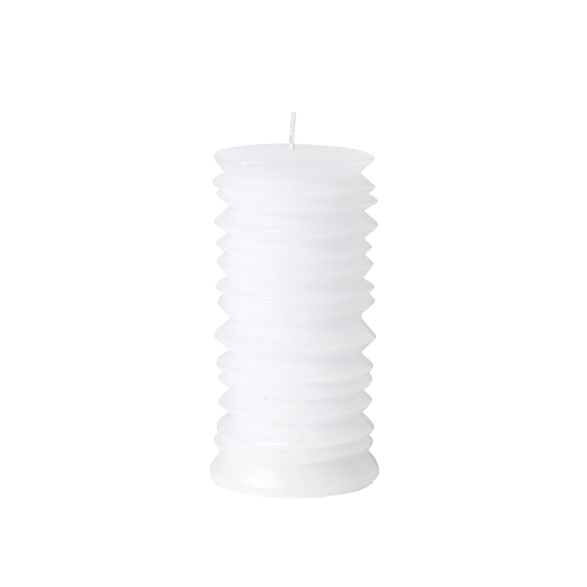 Pillar Circle Candle White H140