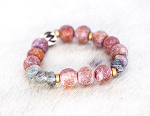 Natural brown bead bracelet