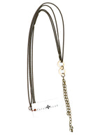 Load image into Gallery viewer, Chain necklace with bone rings and chain tassel