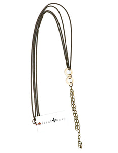 Chain necklace with bone rings and chain tassel