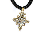 Load image into Gallery viewer, Coconut shell necklace with an Ethiopian cross