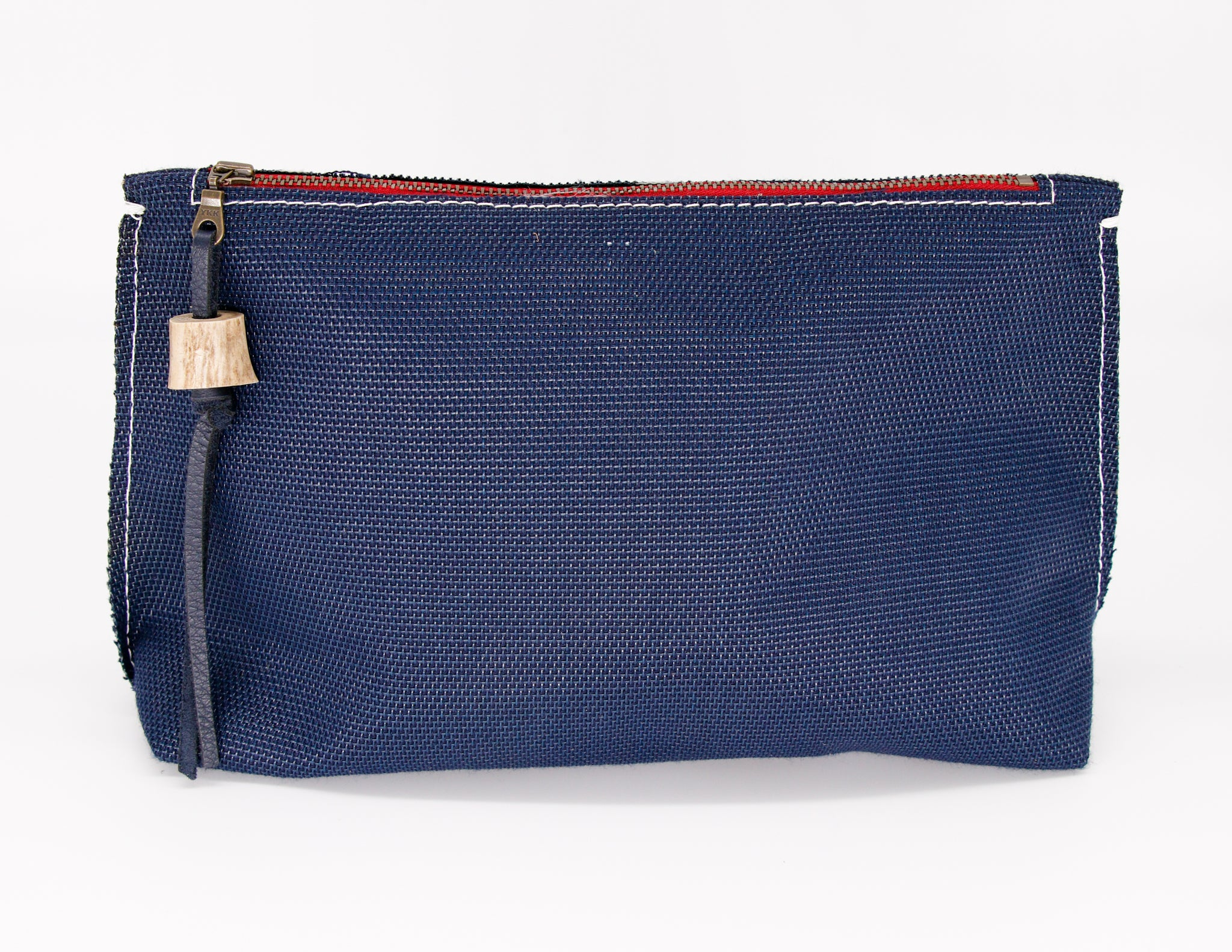Navy large clutch