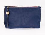 Load image into Gallery viewer, Navy large clutch