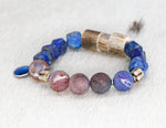Load image into Gallery viewer, Lapis, druzy, shed antler bracelet