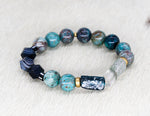Load image into Gallery viewer, Cuprite, Roman glass, brass and sardonyx bracelet