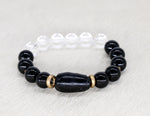 Load image into Gallery viewer, South African onyx with crystal quartz bracelet