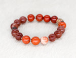 Load image into Gallery viewer, Red jasper and aventurine bracelet