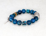 Load image into Gallery viewer, Apatite and turquoise bracelet