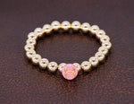 Load image into Gallery viewer, 14kg beads with a repurposed designer pink button bracelet