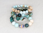 Load image into Gallery viewer, African turquoise and Peruvian turquoise bracelet