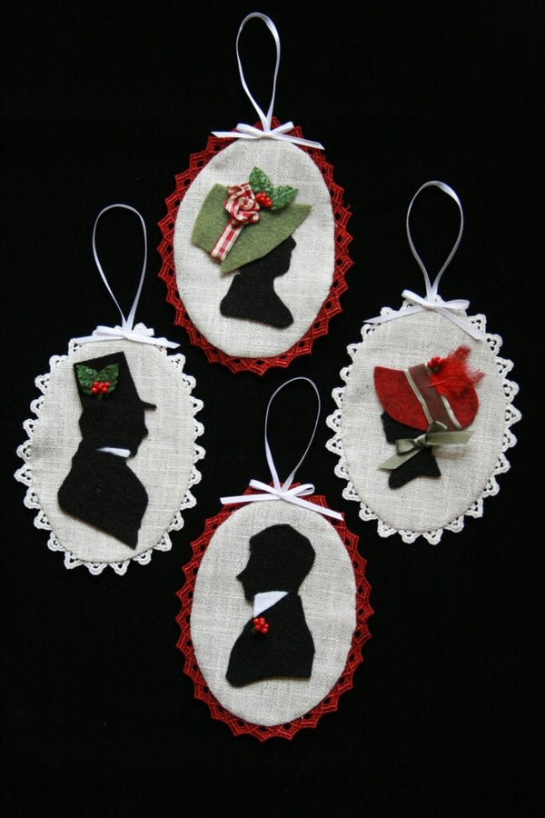 Regency Silhouette Christmas Ornament - Jane Austen Online