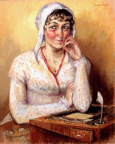 Le nouveau portrait de Jane Austen par Melissa Dring - JaneAusten.co.uk